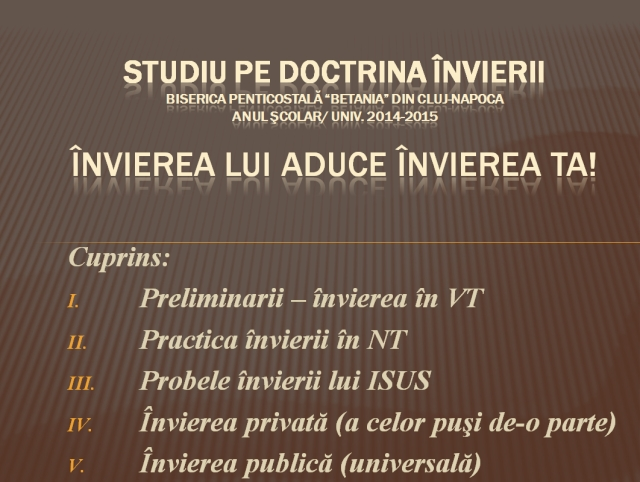 Studiu pe doctrina invierii